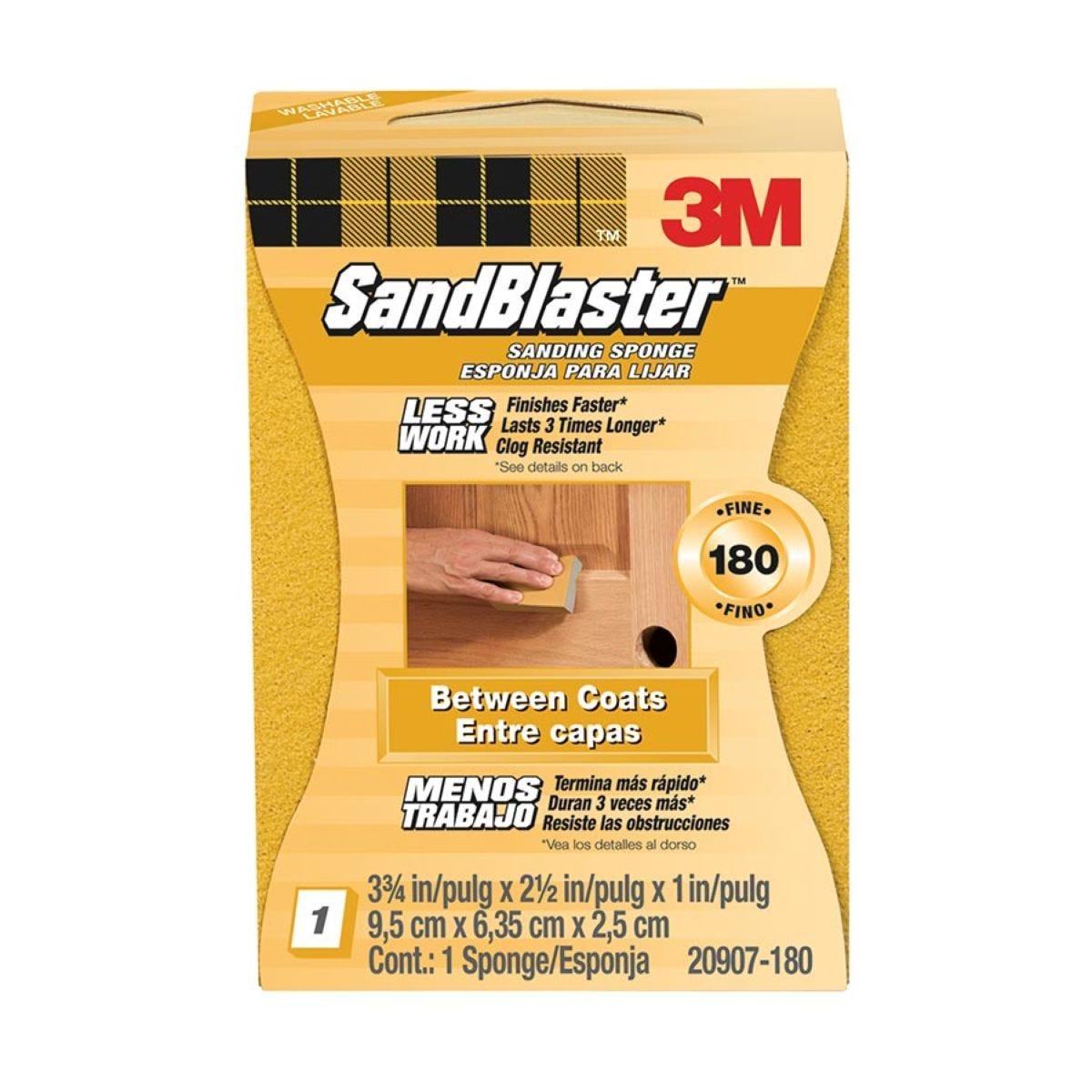 3M SandBlaster Dual Angle Sanding Sponge - Fine P180