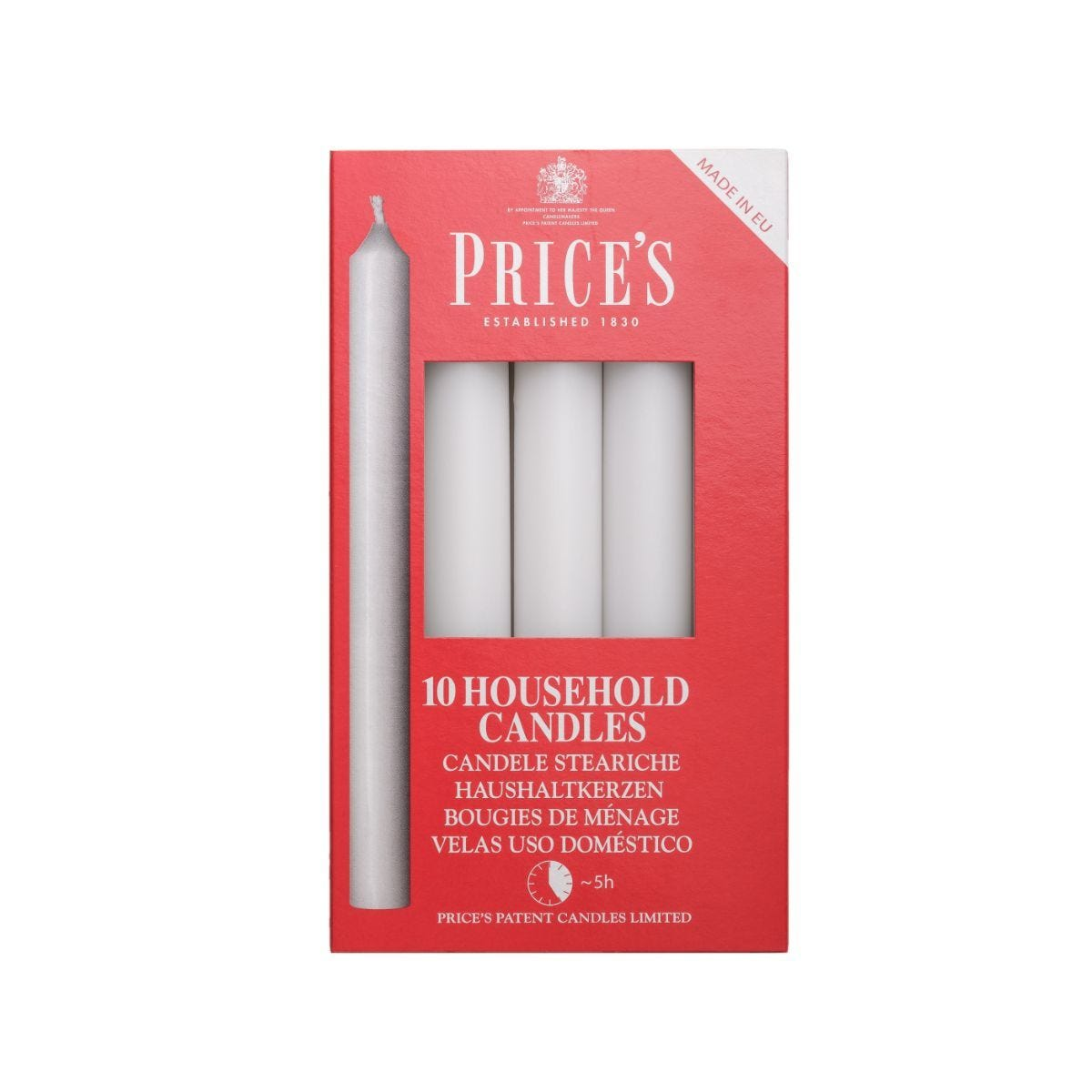 Price's Household Candles – Pack of 10