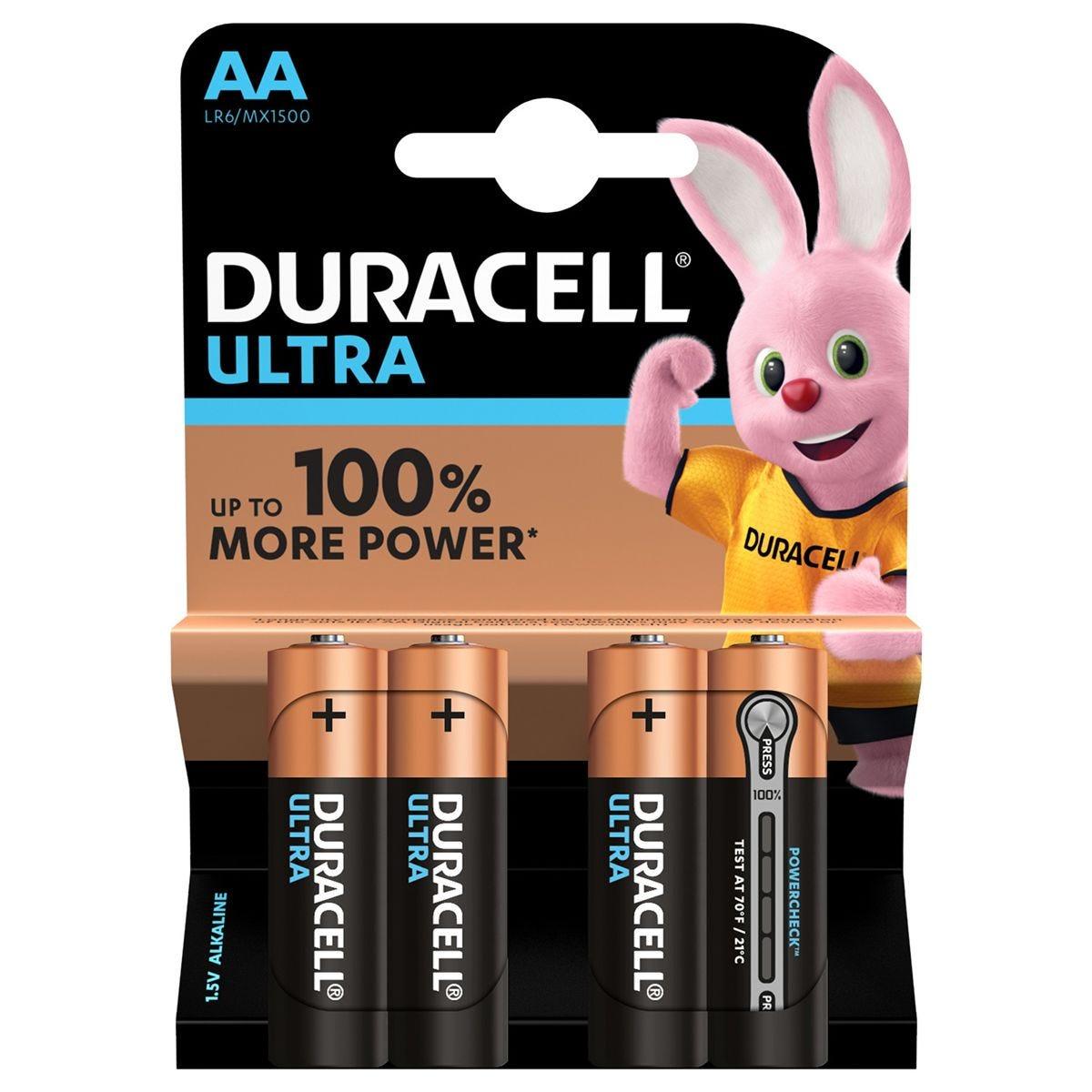 Duracell Ultra Power AA Batteries 4 Pack