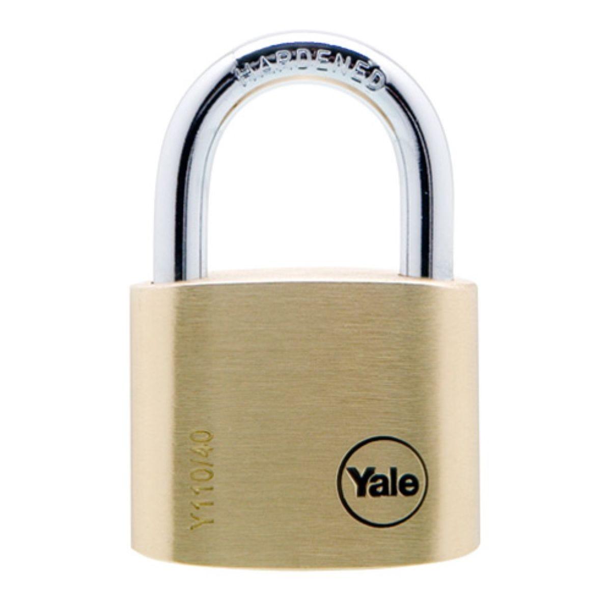 Yale 40mm Brass Padlocks – Pack of 2
