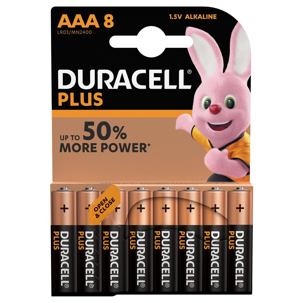 Duracell Plus Power AAA Batteries – 8 pack