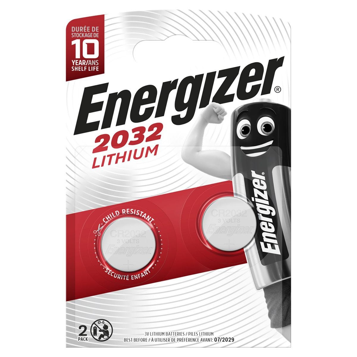 Energizer 2032 Lithium Batteries - 2 Pack