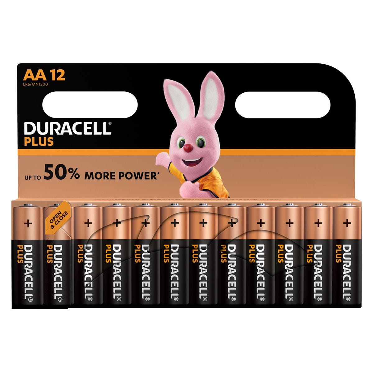 Duracell Plus Power Batteries AA 12 Pack
