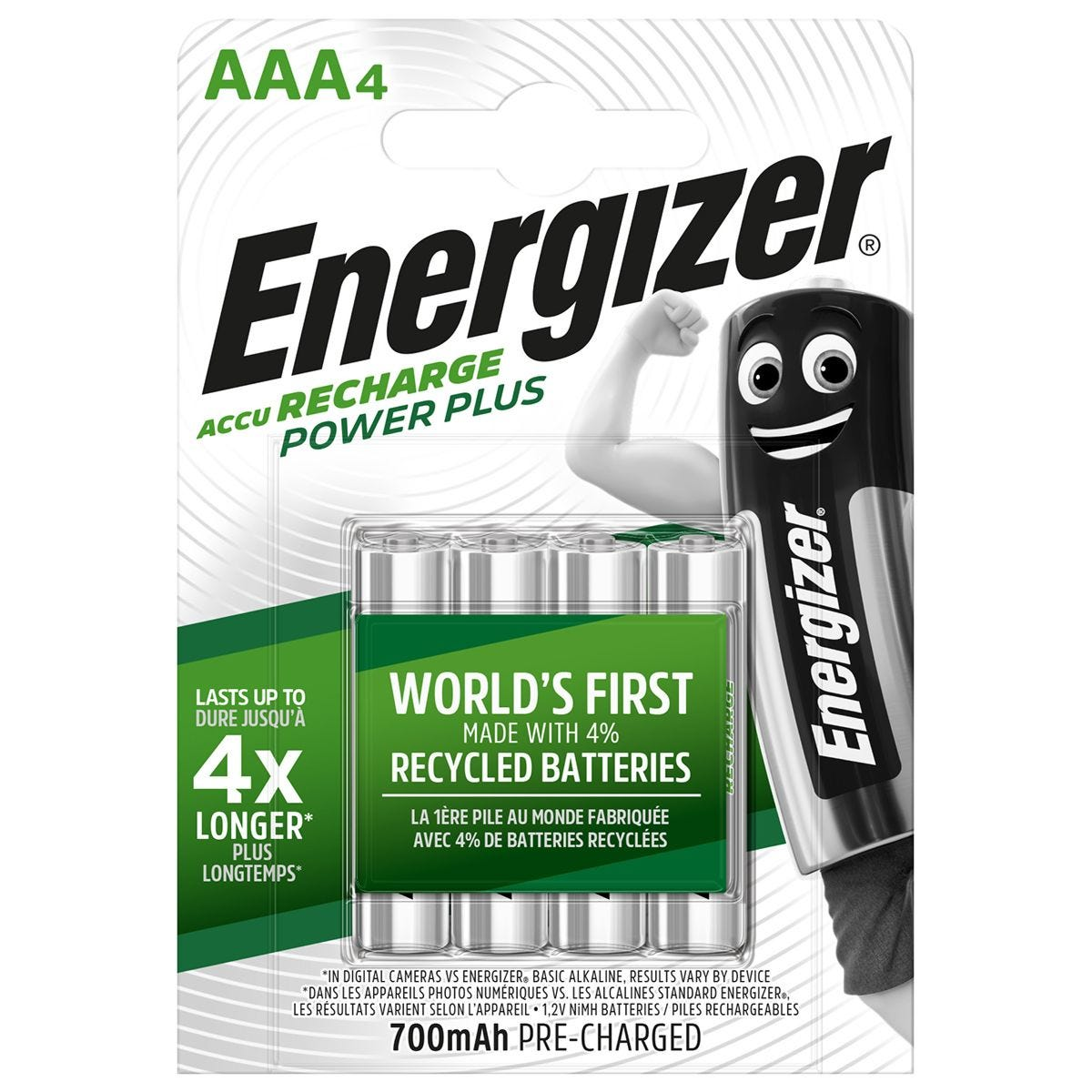 Energizer Rechargeable Batteries AAA - 4 Pack