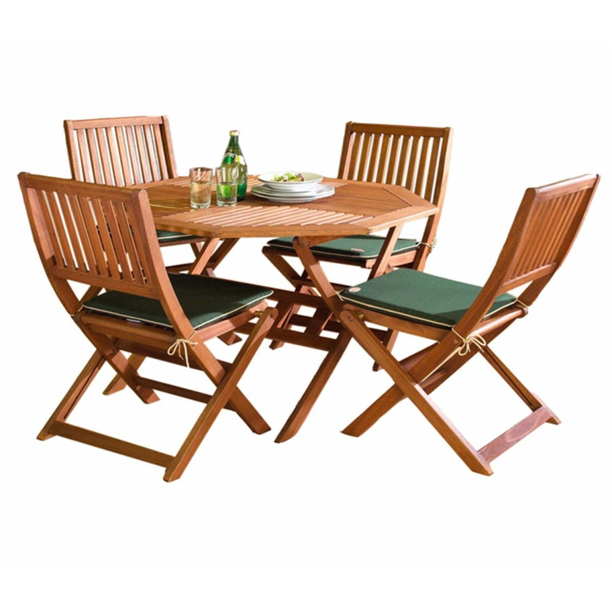 Robert Dyas FSC Country Hardwood Outdoor Table - 110cm