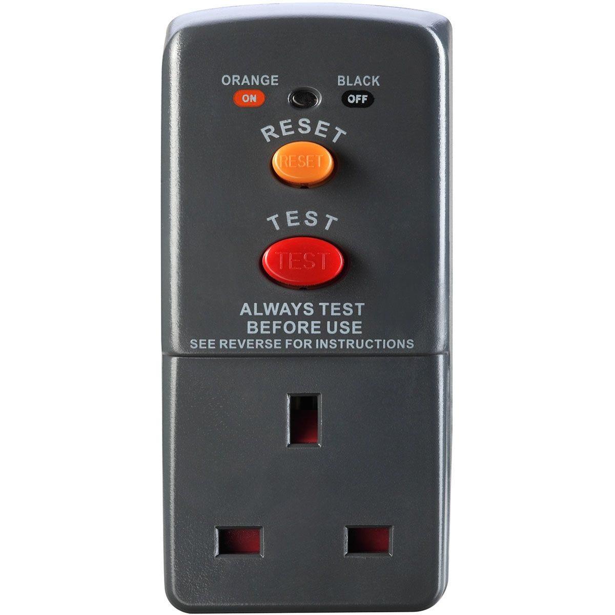 Masterplug RCD Safety Adaptor - Grey