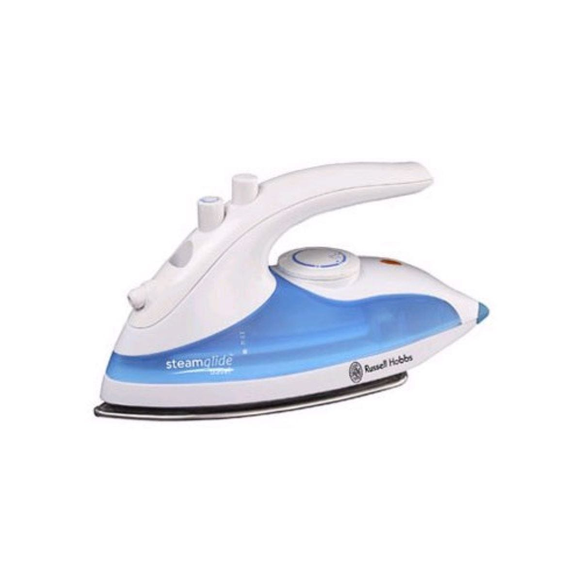 Russell Hobbs 22470 Steamglide 760W Travel Iron - White and Blue