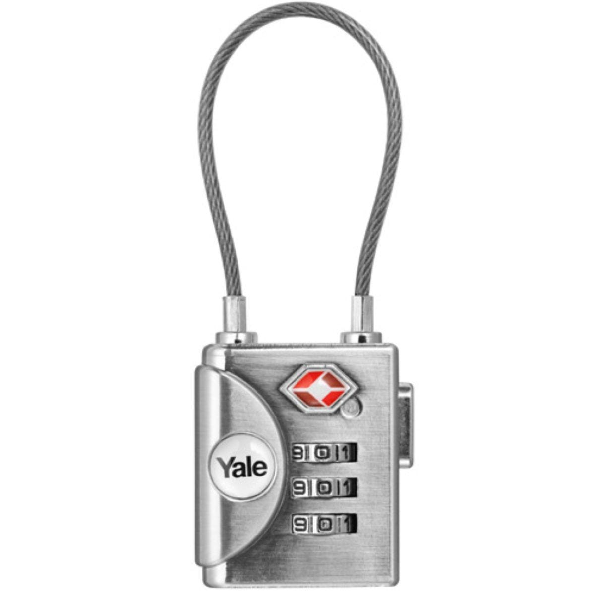 Yale TSA Soft Shackle Combination Padlock