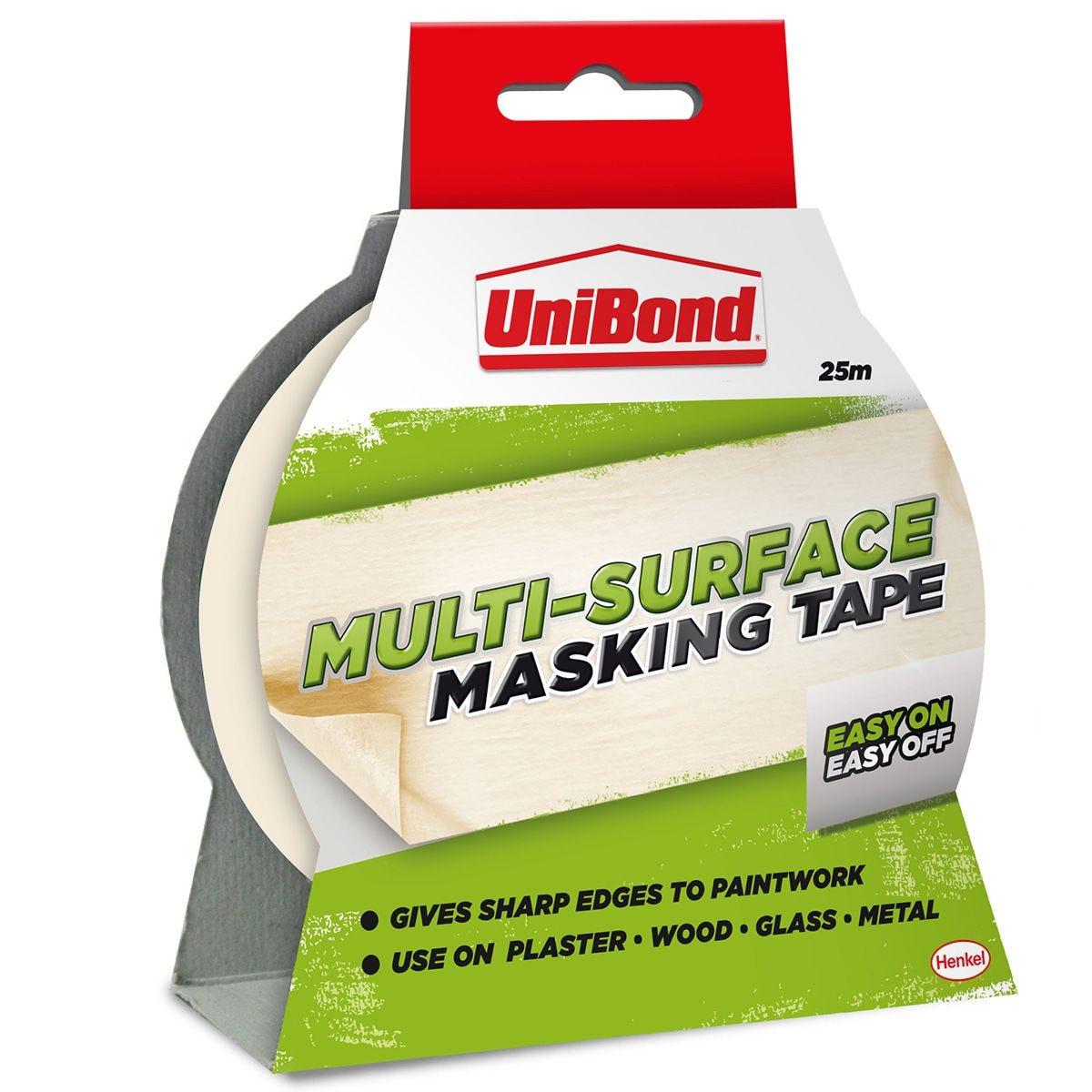 UniBond Easy On/Off Masking Tape 25mm x 25m - Cream