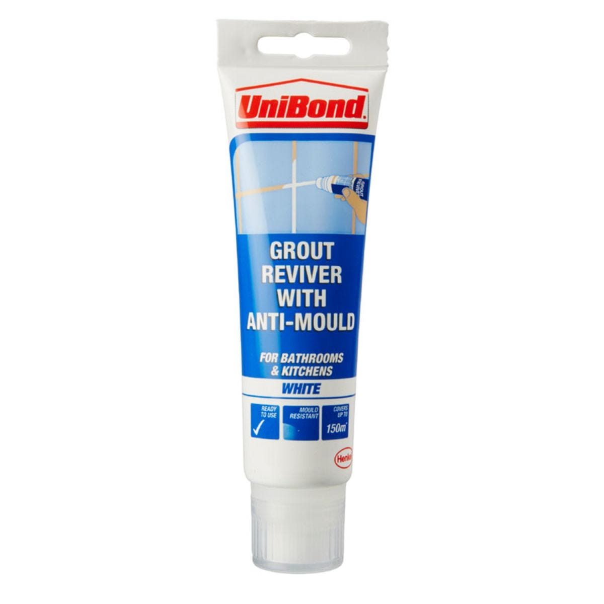 Unibond Grout Reviver White 125ml