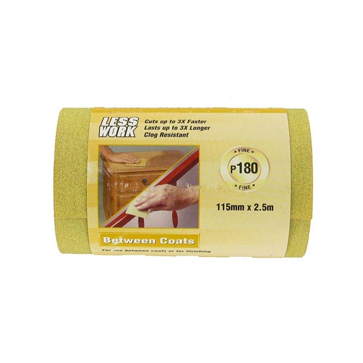 3M Sandpaper Roll 2.5m P180