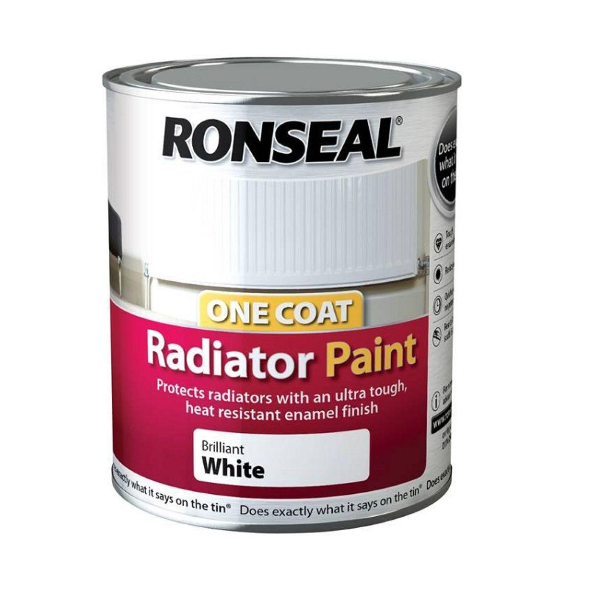 Ronseal Radiator Paint White 250g
