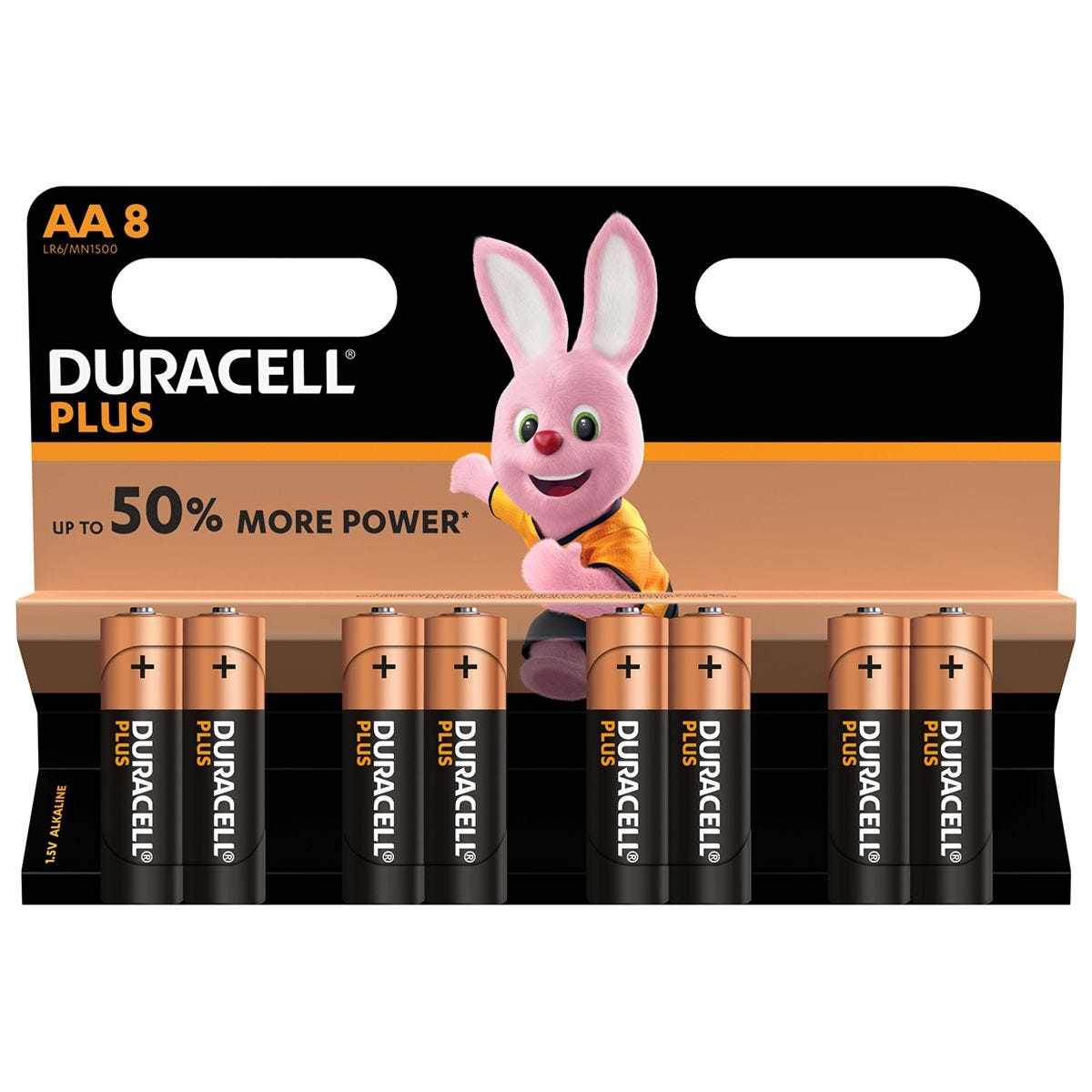 Duracell Plus Power AA Batteries – 8 Pack