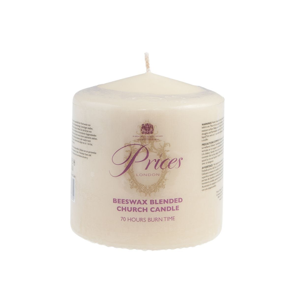 Price's 75 x 70 Beeswax Candle
