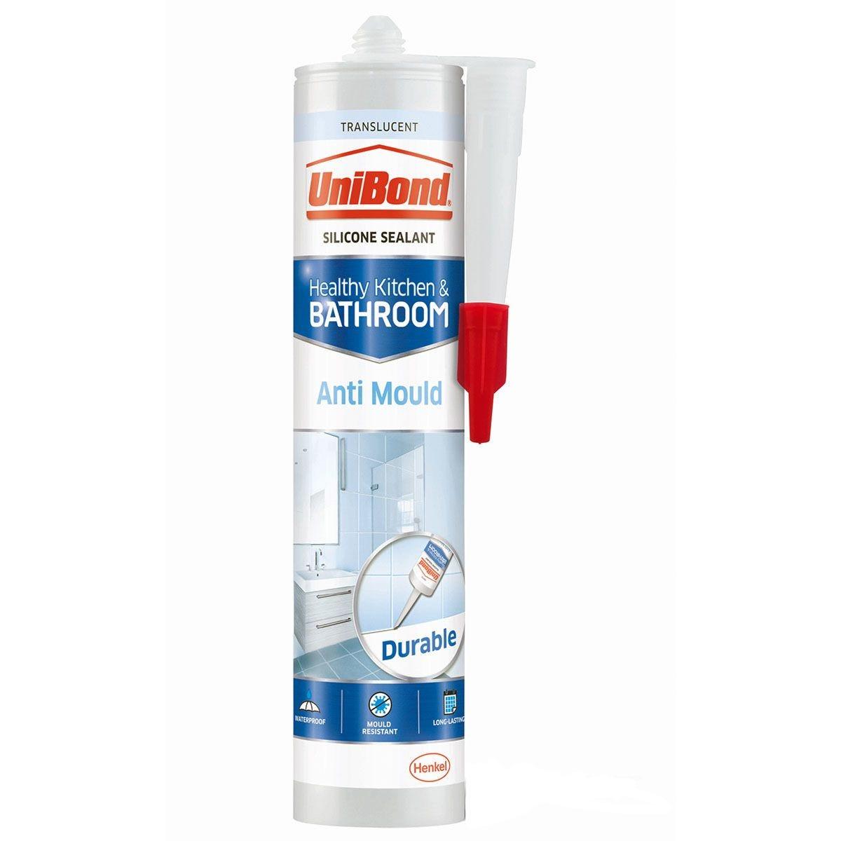 UniBond Anti Mould Kitchen and Bathroom Sealant - Translucent