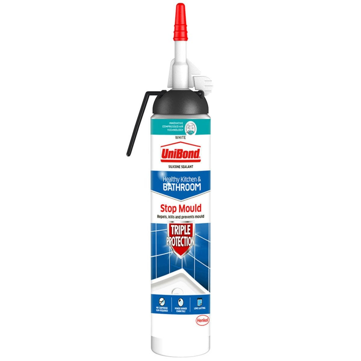UniBond Kitchen and Bathroom Stop Mould Triple Protect Sealant - White