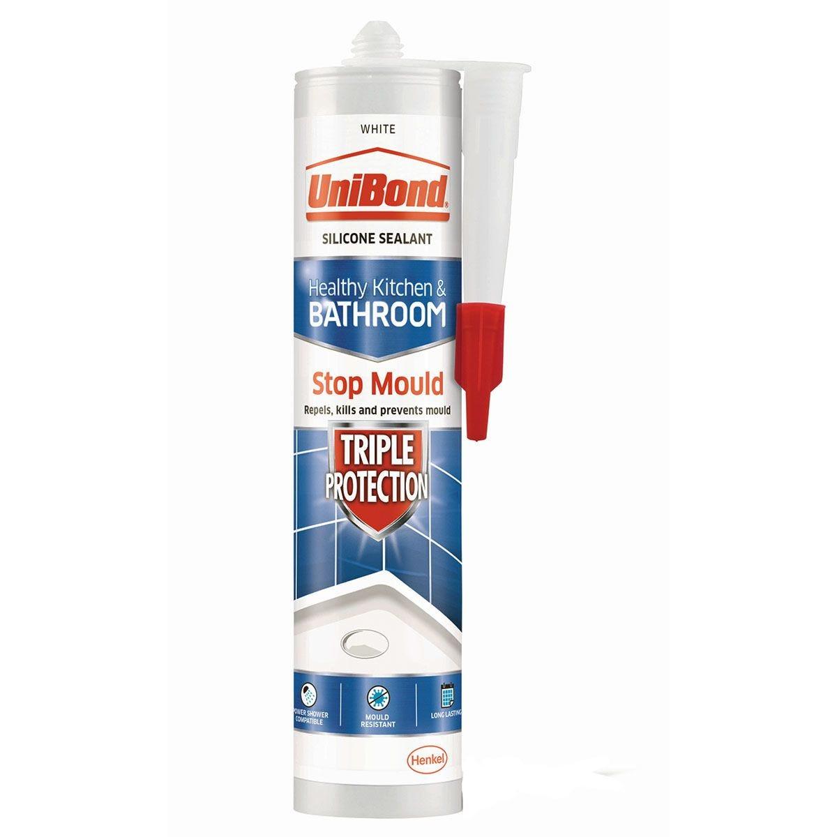 UniBond Anti Mould Kitchen and Bathroom Sealant - White