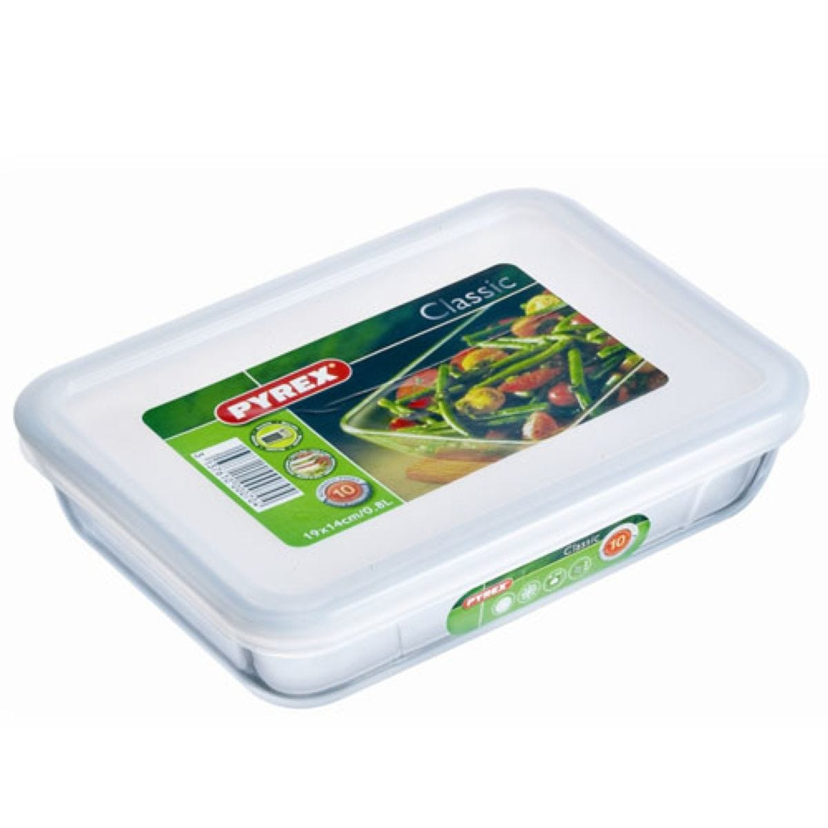 Pyrex Glass Dish with Plastic Lid – 0.8L