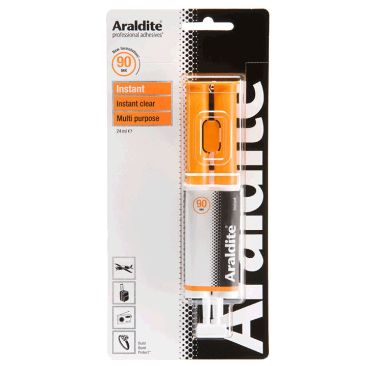 Araldite Instant 90 Second Epoxy Glue - 24ml Syringe