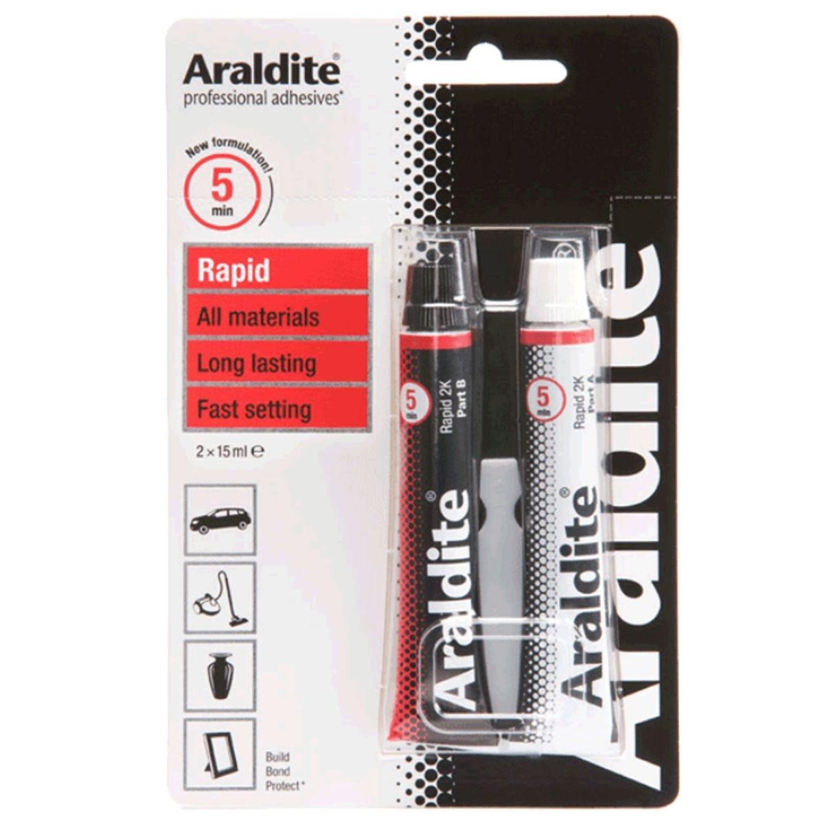 Araldite Rapid Quick Setting Epoxy Glue - 15ml
