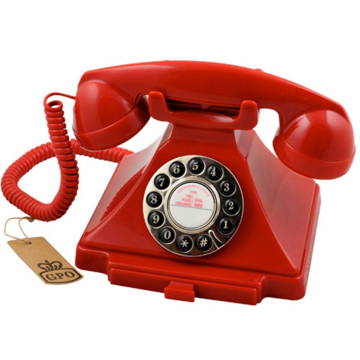 GPO Carrington Nostalgic Design Telephone - Red