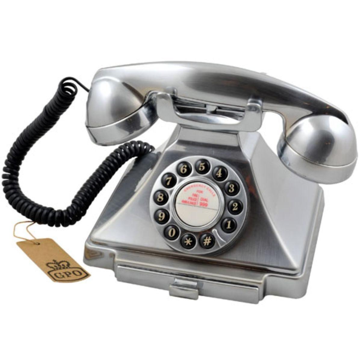 GPO Carrington Nostalgic Design Telephone - Chrome