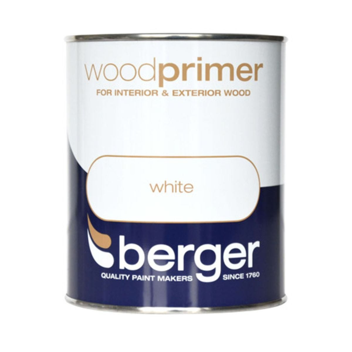 Berger White Wood Primer – 750ml