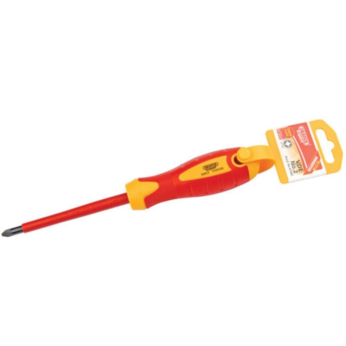 Draper No.2x100mm VDE Soft Grip Screwdriver