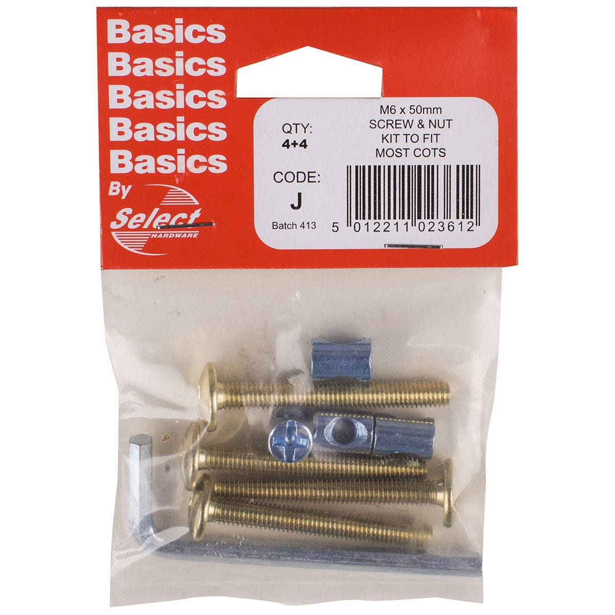 Select Hardware Bunk Bed Bolts Inc Allen Key Electro Brass M6x50mm 4 4 Pack Robert Dyas