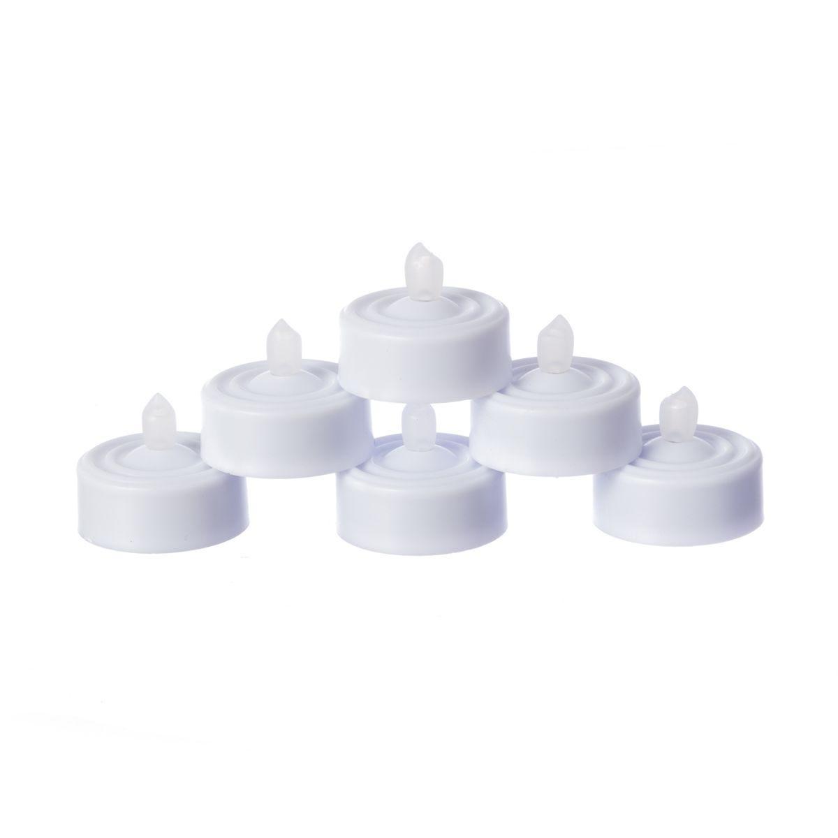 Flickering LED Tea Lights - Pack of 6