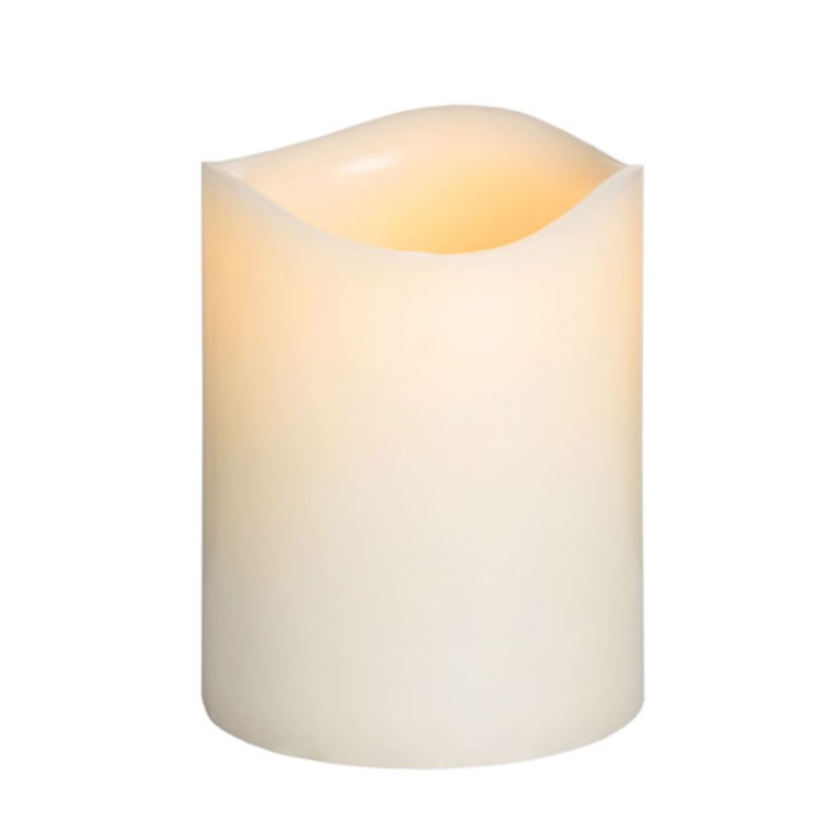 Flickering LED Wax Candle