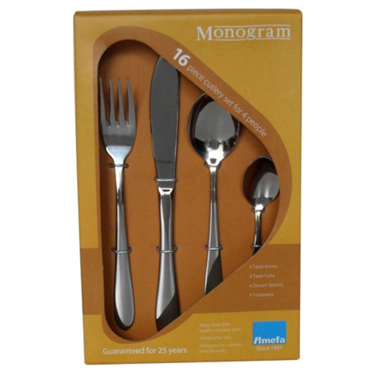 Monogram Sure 16 Piece Cutlery Set