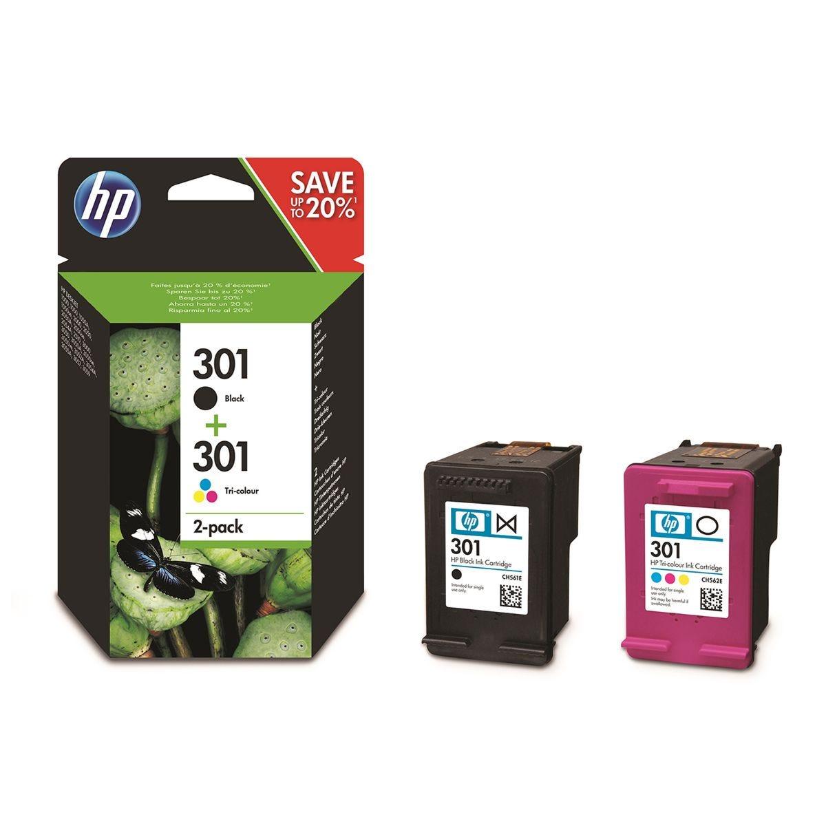 HP 301 Original Ink Cartridge Combo 2 Pack - Multi