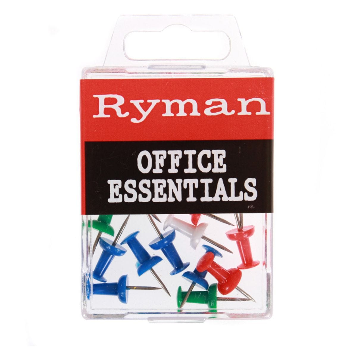 Ryman Assorted Push Pins – 25 Pack