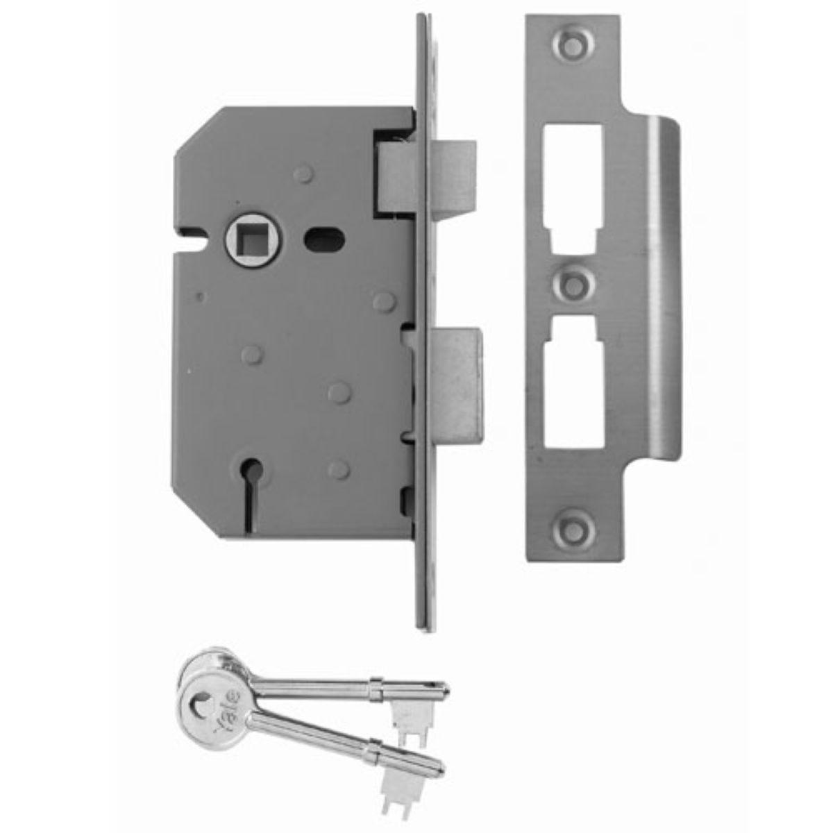 Yale 2.5 Inch 3-Lever Sashlock