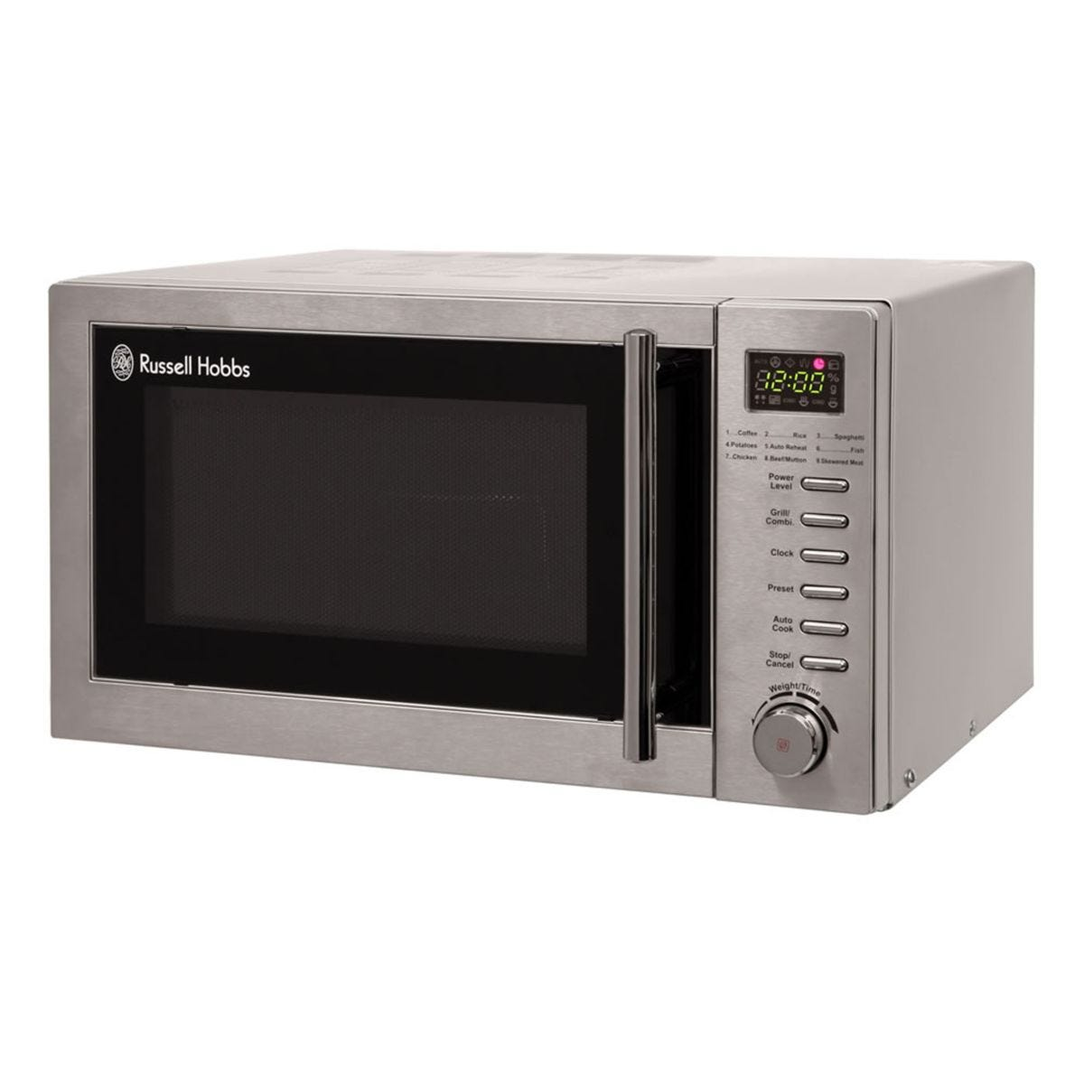 Russell Hobbs RHM2031 1000W 20L Digital Microwave with Grill - Stainless Steel