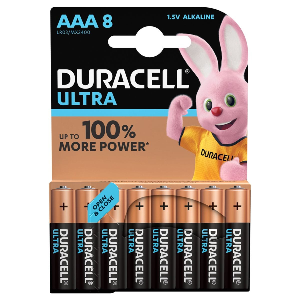 Duracell Ultra Power AAA Batteries – 8 Pack