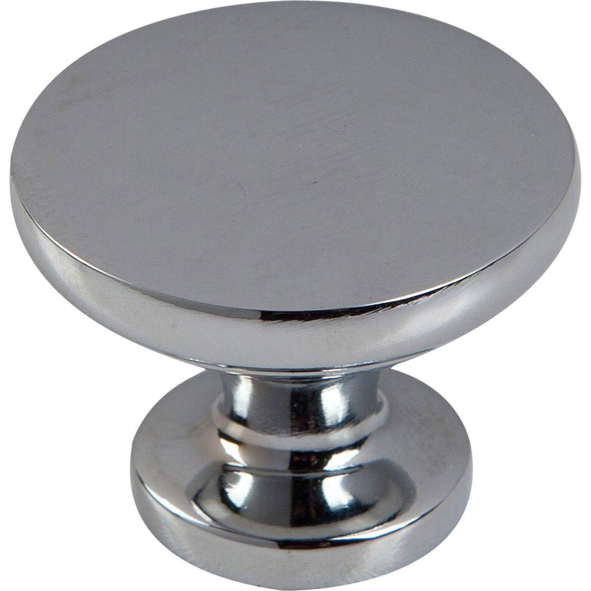 Select Hardware 30mm Diameter Polished Chrome Knob (6 Pack)