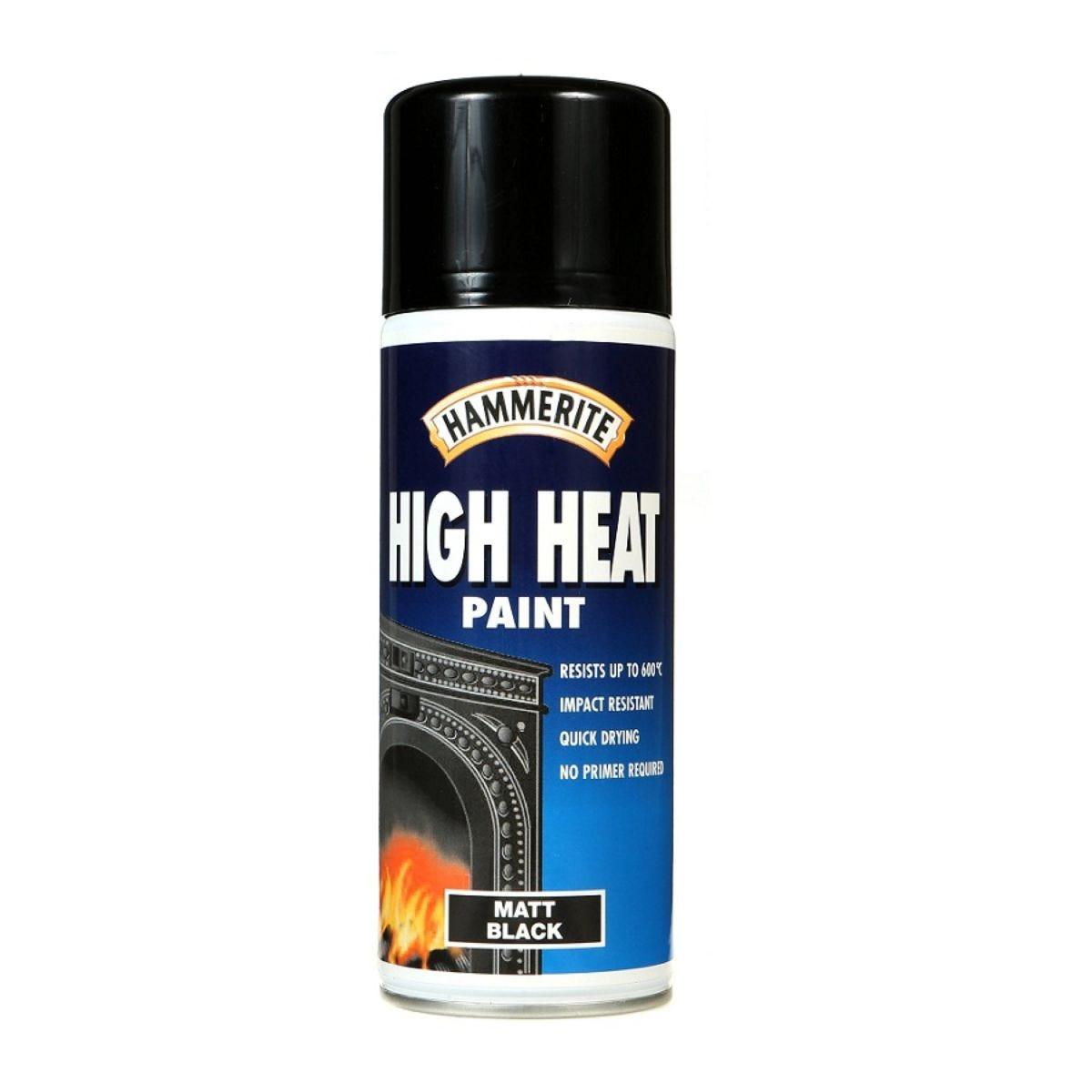 Hammerite High Heat Matt Black 400ml