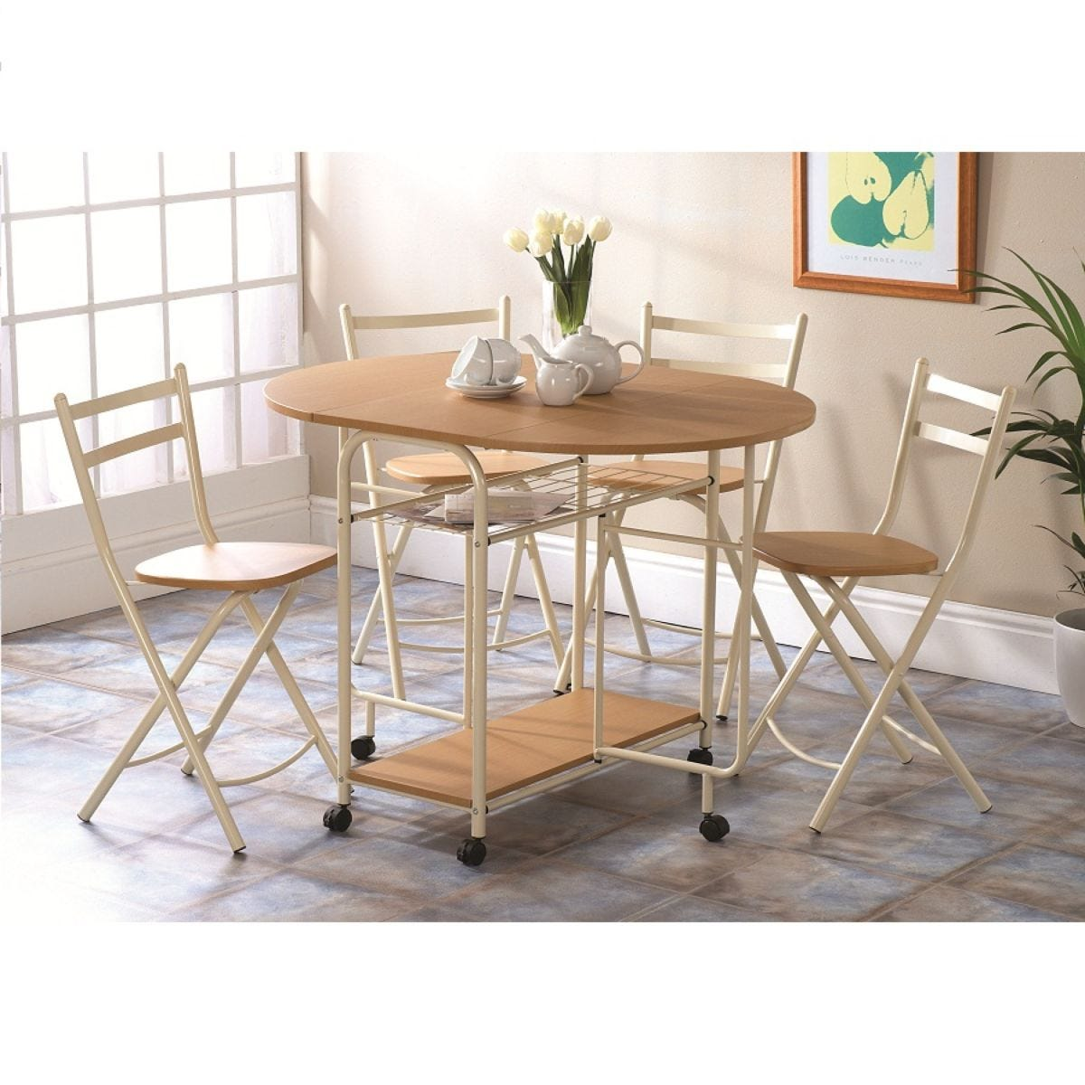 Gablemere Stowaway Dining Set - Table and 4 Chairs