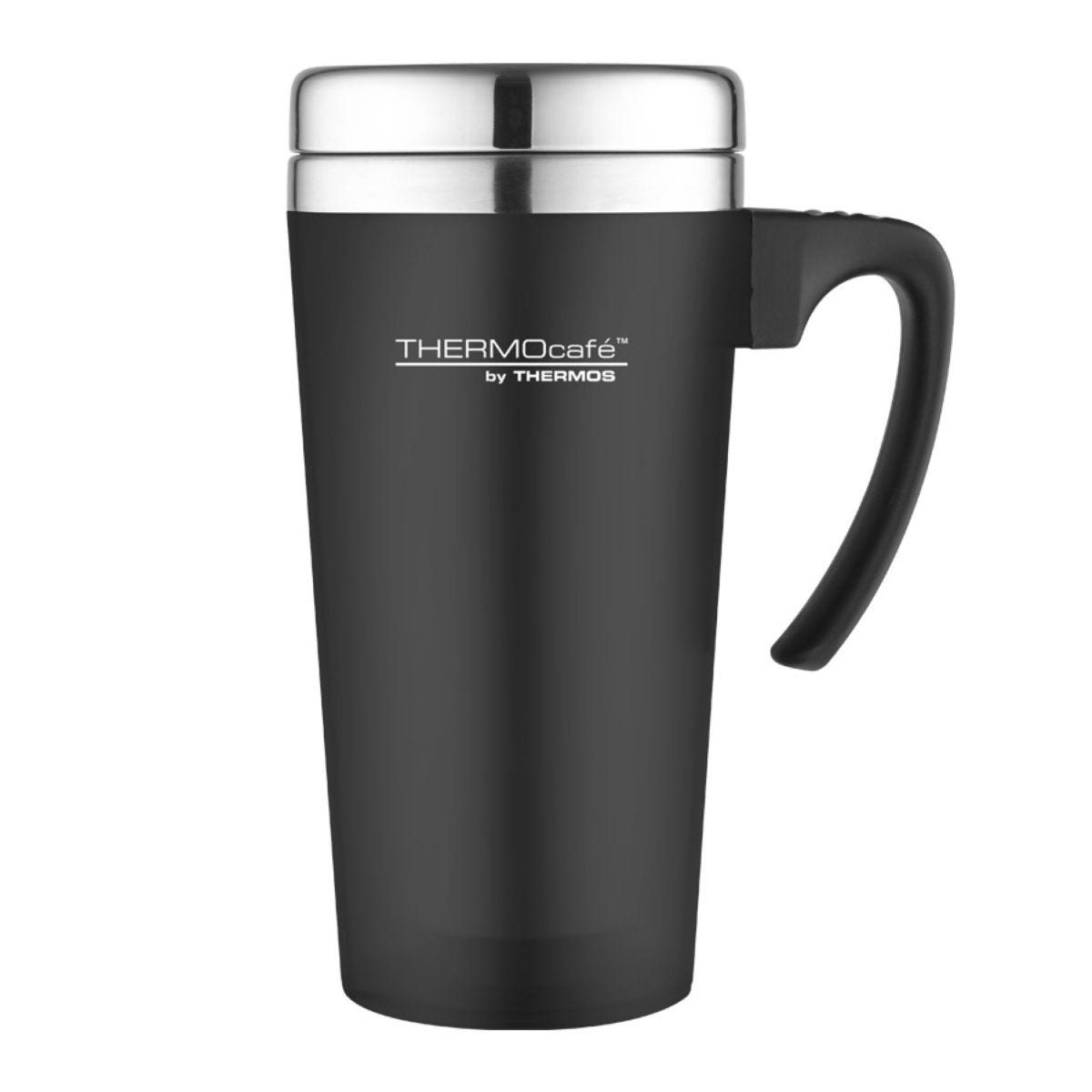 Thermos Thermocafe Zest 400ml Travel Mug Black Robert Dyas