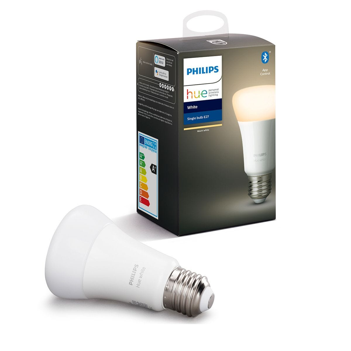 Philips Hue Smart Wi-Fi Dimmable White E27 60W Bluetooth Light Bulb