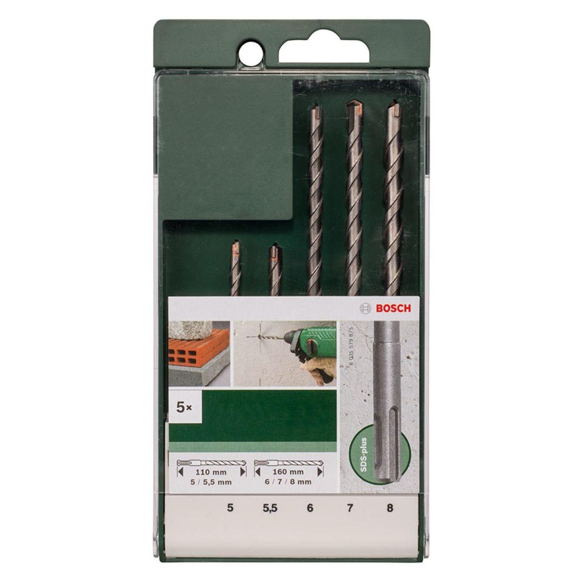 Bosch 5 Piece SDS-Plus Drill Bit Set