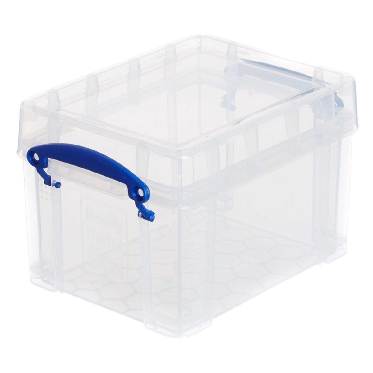 Really Useful 3L Plastic Storage Box - Clear