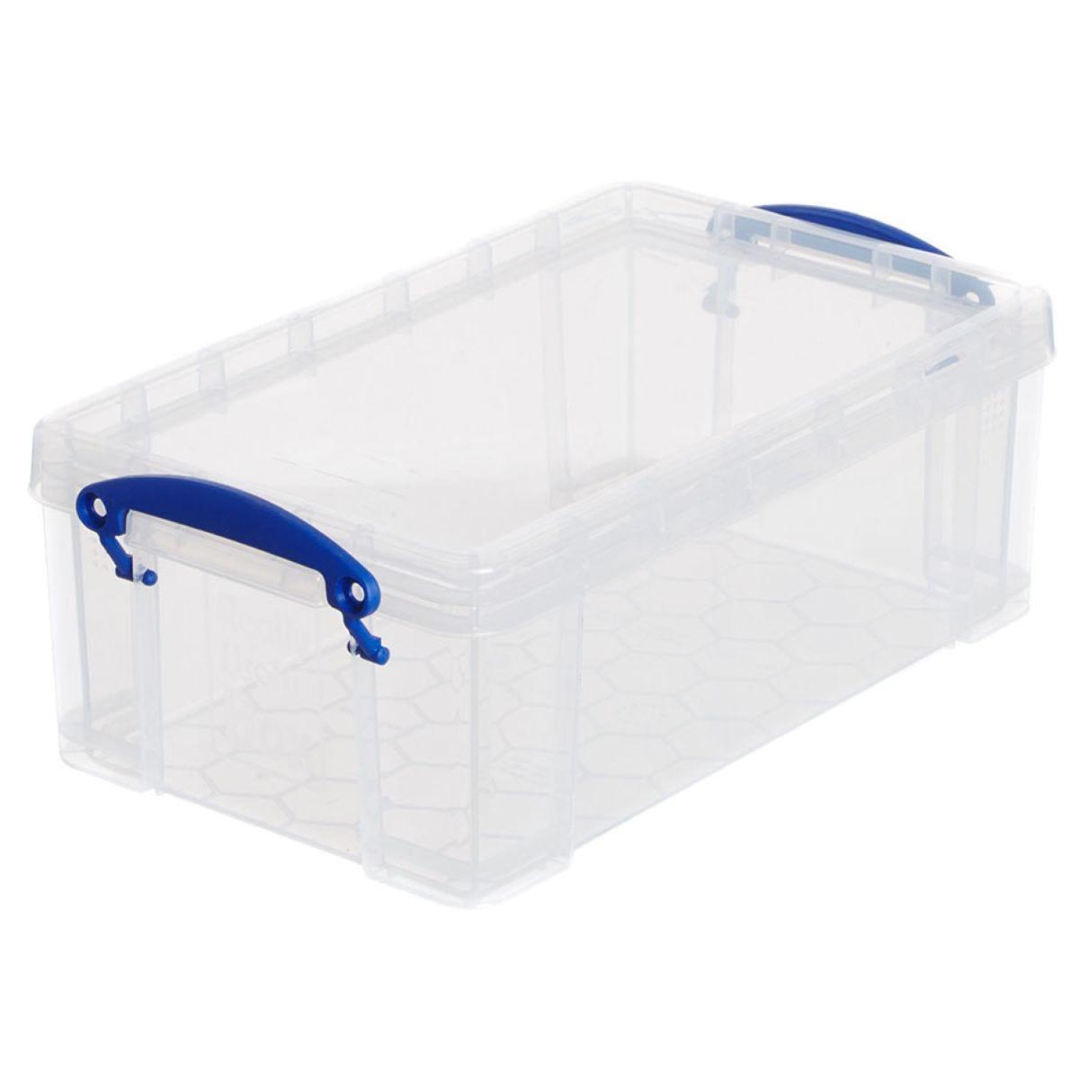 Really Useful 5L Plastic Storage Box - Clear