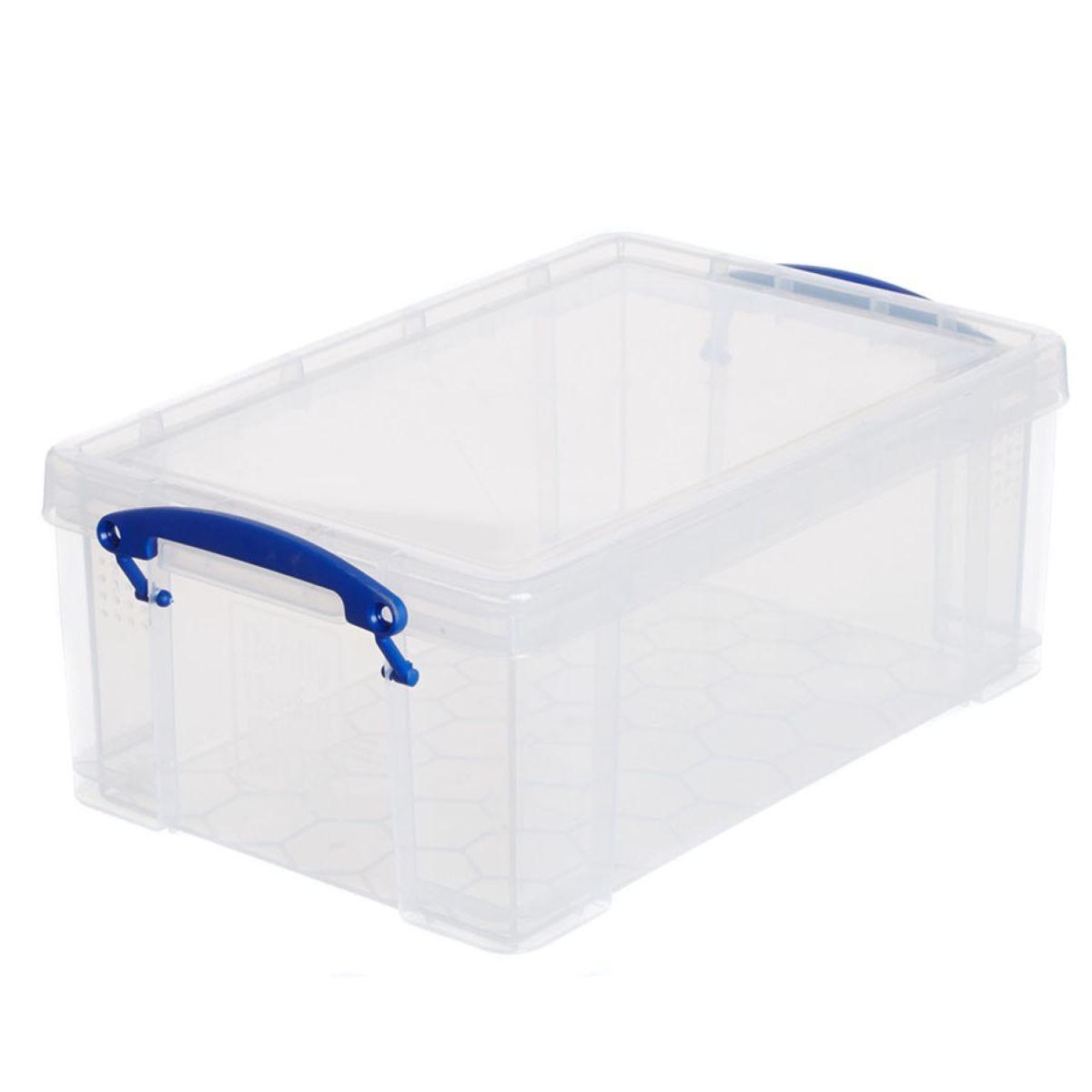 Really Useful 9L Plastic Storage Box - Clear