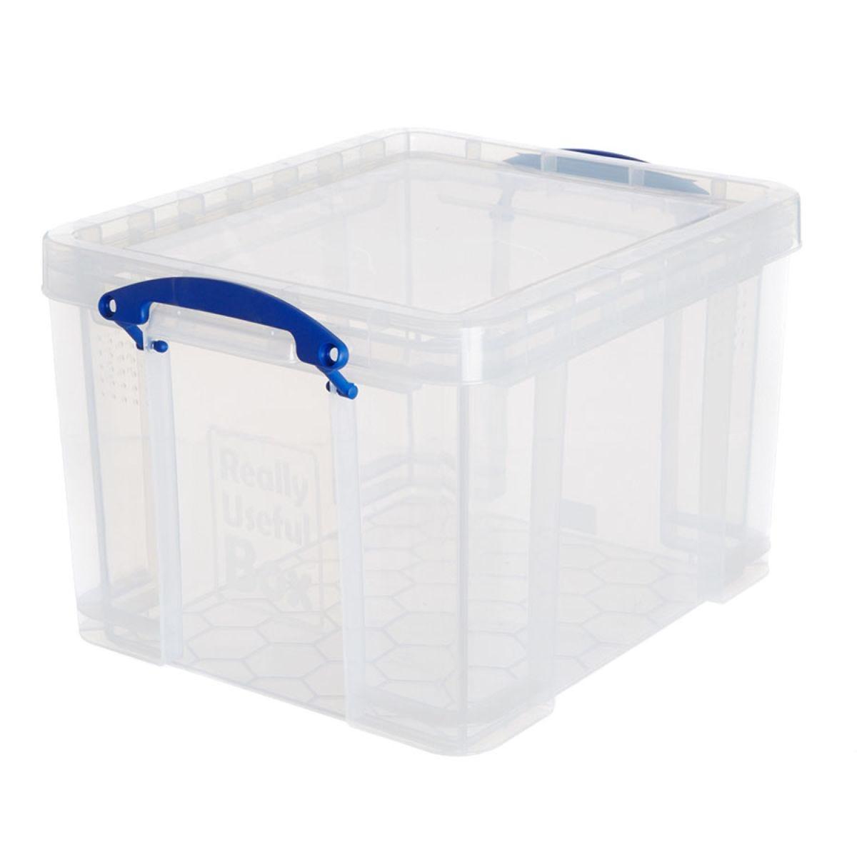 Really Useful 35L Plastic Storage Box - Clear
