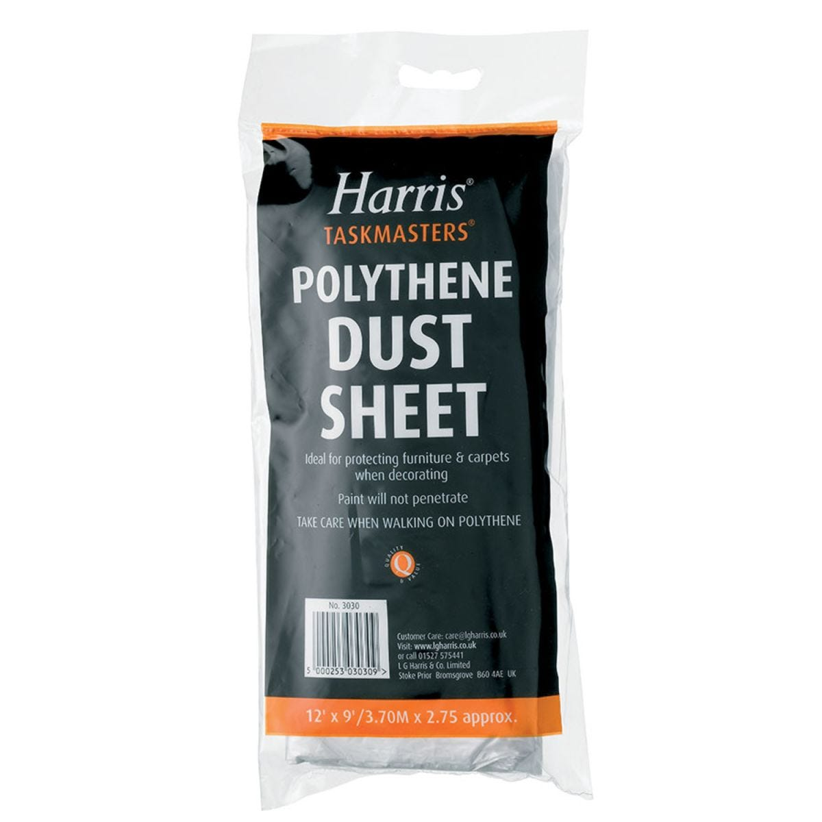 Harris Taskmasters Polythene Dust Sheet