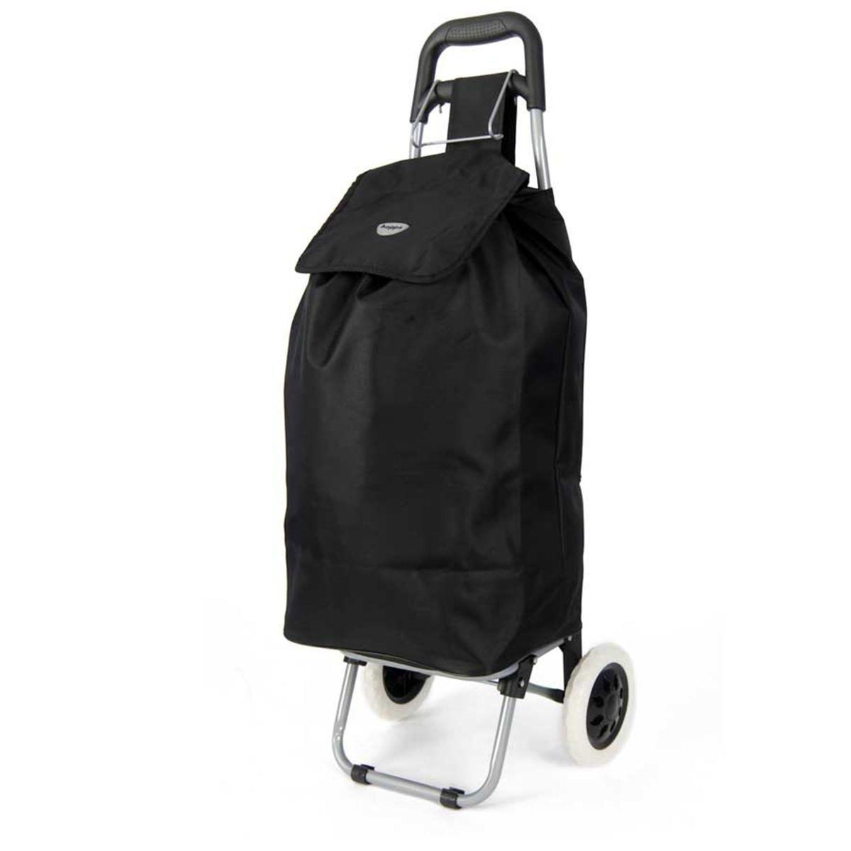 Original Plain 23-Inch Shopping Trolley - Black