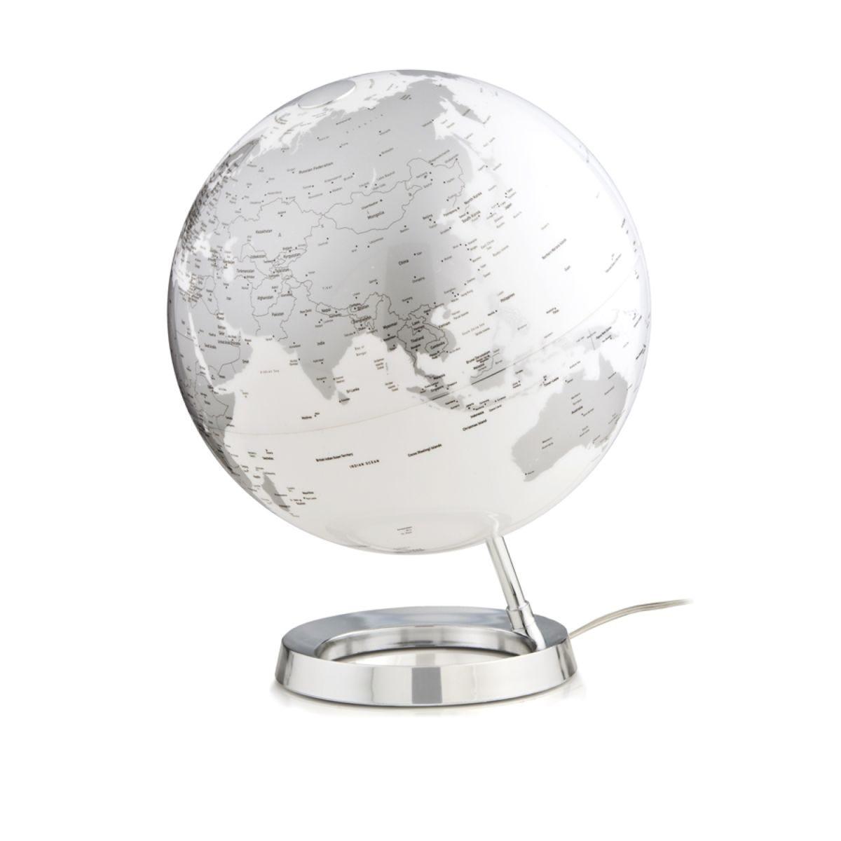 Atmosphere 30cm Illuminated Globe - Bright Chrome